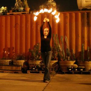 Fire Fan Spinning/Dance