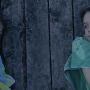 Still of Madison Meyer and Zach Wilder in the feature Pollywogs.