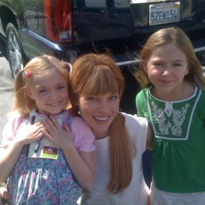 Madison Meyer. Elsie Fisher, and Milla Jovovich