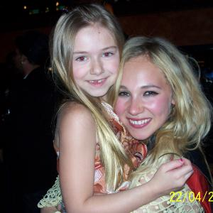 Madison and Juno at the Dirty Girl wrap party
