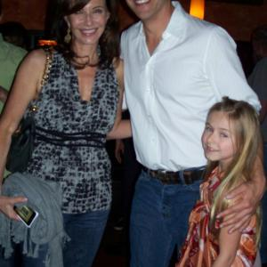 Madison Meyer, Abe Sylvia(director) and Mary Steenburgen, Dirty Girl wrap party