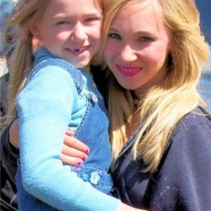 Madison Meyer(Mindy) and Juno Temple(Danielle) on set of Dirty Girl