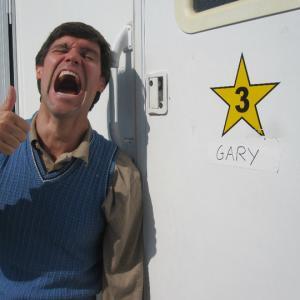 Gary outside his trailer