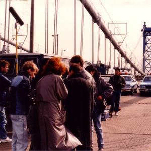 Shooting on Manhattan Bridge 1988