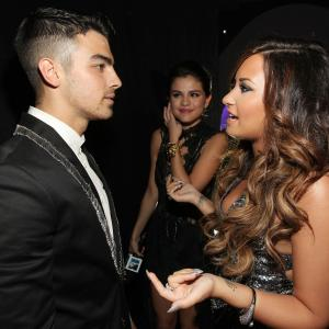Selena Gomez, Demi Lovato and Joe Jonas