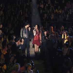 Still of Demi Lovato and Joe Jonas in Camp Rock 2: The Final Jam (2010)