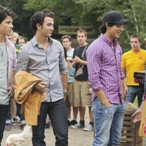 Still of Demi Lovato, Kevin Jonas, Joe Jonas and Nick Jonas in Camp Rock 2: The Final Jam (2010)