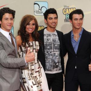 Demi Lovato, Kevin Jonas, Joe Jonas and Nick Jonas at event of Camp Rock 2: The Final Jam (2010)