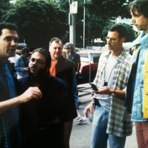 Norm Macdonald Frank Sebastiano Jim Downey Bob Saget Fred Wolf movie set