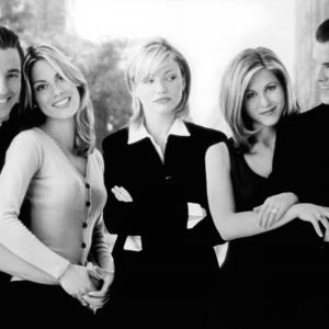 Still of Jennifer Aniston, Cameron Diaz, Maxine Bahns, Edward Burns and Michael McGlone in She's the One (1996)