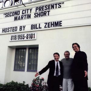 Martin Short, John Davies, Bill Zehme at Second City Presents taping