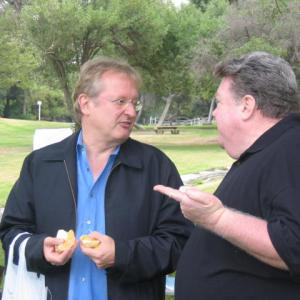 John Davies and George Wendt on the set of