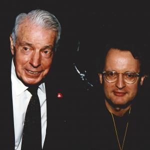 Joe DiMaggio & producer John Davies at SUPERSTAR SALUTE TO BASEBALL