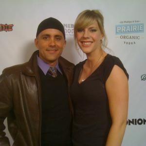 Simon Anthony and Jenny Flack at a Los Angeles Film Festival for After Dinner