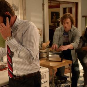 Still of Scott Foley, T.J. Miller and Melissa Tang in The Goodwin Games (2013)