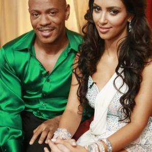Still of Maurice Greene and Kim Kardashian West in Dancing with the Stars 2005
