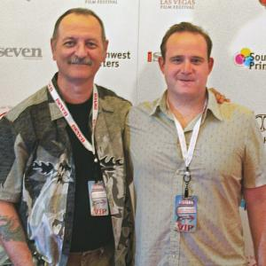 Director R. Christian Anderson and Screen Writer Evan Farber at the Las Vegas Film Festival 2012. Both were judges for the festival.