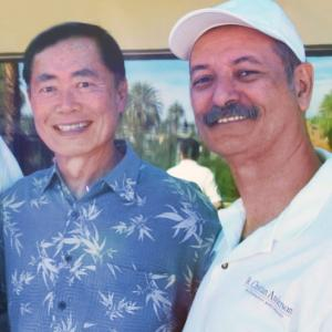 Actor George Takei and Director R. Christian Anderson in Palm Springs, California.