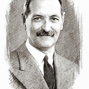 Drawing of R. Christian Anderson by Wayne Miller of Atlantic City, New Jersey.