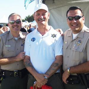 With members of the Riverside Sheriff Department.