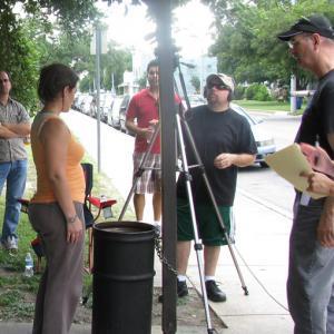 On the set in San Antonio, Texas.