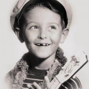 At age 7. Publicity photo taken in Hollywood prior to the appearance on