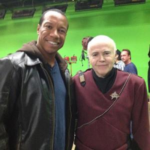 Still of Rico E Anderson and Walter Koenig Chekov for Star Trek Renegades