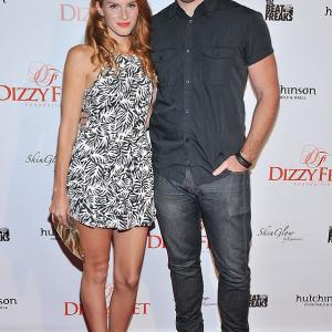 Stephanie Lynn and Bryden Lando arrive at the Magic Mike XXL Celebration held at Hutchinson Cocktails  Grill in West Hollywood CA on Thursday July 9 2015