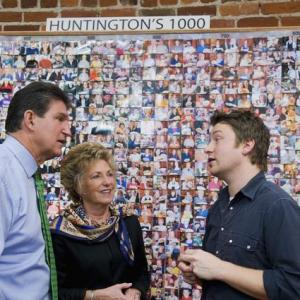 Jamie Oliver, Joe Manchin III, Gayle Conelly Manchin