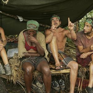 Still of Tamara Johnson James Thomas Jr Erinn Lobdell and Stephen Fishbach in Survivor 2000