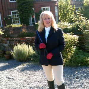 Kathy Krantz Stewart at BOXTED HALL  700 year old mansion  I play Emily  Pearls of Africa
