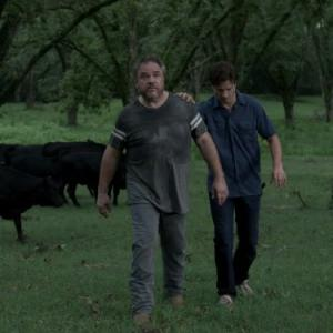 Still of W. Earl Brown and Aden Young in Rectify (2013)