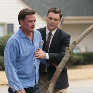 Still of Clayne Crawford and Aden Young in Rectify (2013)