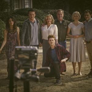 Still of Clayne Crawford, Bruce McKinnon, J. Smith-Cameron, Abigail Spencer, Aden Young, Jake Austin Walker and Adelaide Clemens in Rectify (2013)