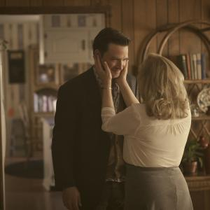 Still of J. Smith-Cameron and Aden Young in Rectify (2013)