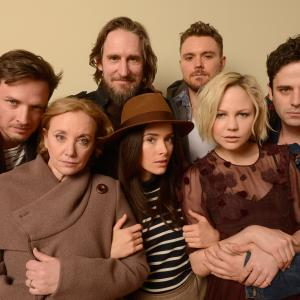 Clayne Crawford, Luke Kirby, Ray McKinnon, J. Smith-Cameron, Abigail Spencer, Aden Young and Adelaide Clemens at event of Rectify (2013)