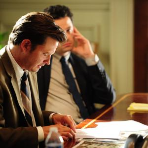 Still of Luke Kirby and Aden Young in Rectify (2013)