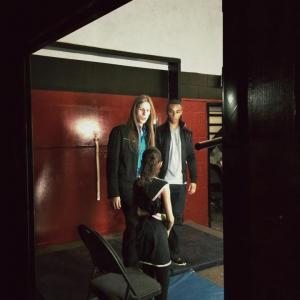 Corey Tomicic on set with Daniel Lavigne