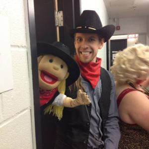 Still of Corey Tomicic and Millie behind the scenes at Just For Laughs 2013