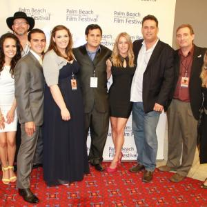 The cast and crew of The Shift premiere night at PBIFF on April 5th 2013 From left to right John Werskey Sara Castro Brad Banacka Leo Oliva Melanie DiPietro Lee Cipolla Casey Fitzgerald William Garcia Lou Pappas and Lee Cipollas mother