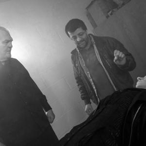 Ilyas Kaduji directing Jack O'Halloran and Petra Bryant in Abduct (2014)