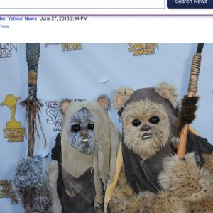Stone Eisenmann & HannaH Eisenmann on the Red Carpet at the 2013 Saturn Awards. (They are the Ewoks everyone is talking about)