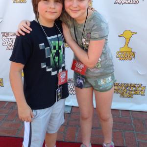 Stone Eisenmann & HannaH Eisenmann on the Red Carpet at the 2013 Saturn Awards. (They are the Ewoks everyone was talking about)