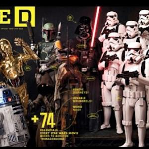 STAR WARS Cover of WIRED MAGAZINE Stone Eisenmann as a Jawa (sitting down by Storm Troopers) With my family and Chris Hardwick.
