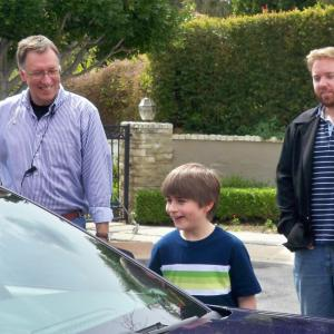 Stone Eisenmann and Gabriel Suttle being directed on the set of NCIS LA