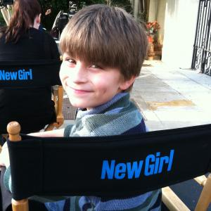 Stone Eisenmann filming his recurring role on the FOX TV show New Girl