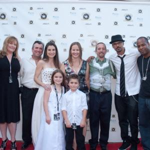 Shemar Moore, Andy Swan, Jen Swan, HannaH Eisenmann & Stone Eisenmann with others at the premiere of Swan one man's journey/ Lung Cancer Foundation of America charity event at the Pasadena Play House