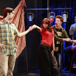 Still of Debby Ryan Kevin Michael and Joey Richter in Jessie 2011