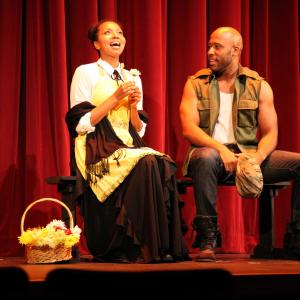 Leilani Smith as Fannie Mae Dove and Boise Holmes as Will in