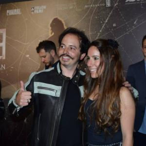 Isaac Ezban with his producer and wife (and partner at Red Elephant Films) Miriam Mercado, at the red carpet and premiere of THE INCIDENT in Mexico (Sept 2015)